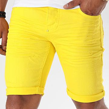 Uniplay - Short Jean Skinny 358 Jaune