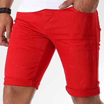 Uniplay - Short Jean Skinny 358 Rouge