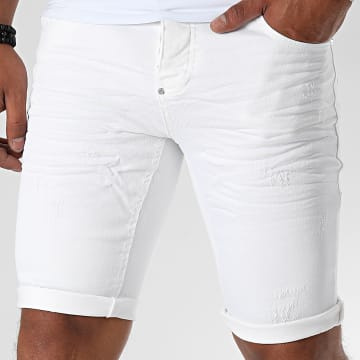 Uniplay - Short Jean Skinny 359 Blanc