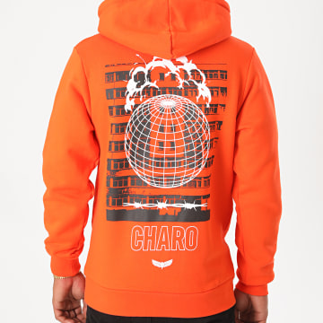Charo - Sweat Capuche End World Orange