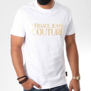 Versace Jeans Couture - Tee Shirt Logo Foil B3GZA7TA-30319 Blanc Doré