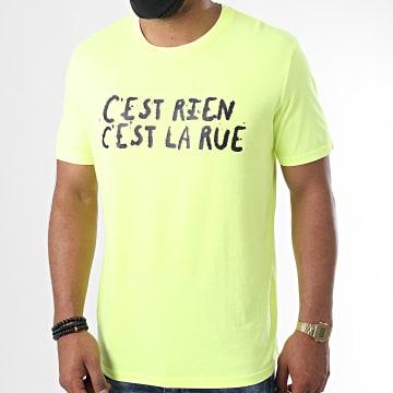 C'est Rien C'est La Rue - Tee Shirt Logo Jaune Fluo