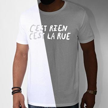 C'est Rien C'est La Rue - Tee Shirt Logo Reflective Blanc