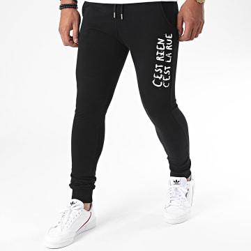 C'est Rien C'est La Rue - Pantalon Jogging Logo 2 Noir