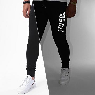 C'est Rien C'est La Rue - Pantalon Jogging Logo 2 Reflective Noir