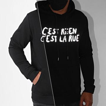C'est Rien C'est La Rue - Sweat Capuche Logo 2 Reflective Noir