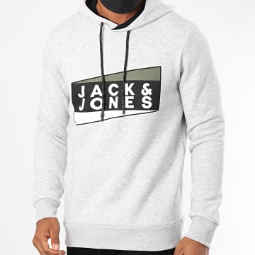 Jack And Jones - Sweat Capuche Anton Gris Chiné
