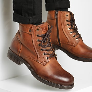 Jack And Jones - Bottines Angus 12175948 Cognac