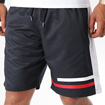 NI by Ninho - Short Jogging A Bandes Shaft Noir