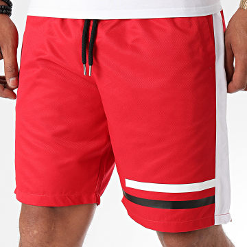 NI by Ninho - Short Jogging A Bandes Shaft Rouge