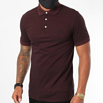 Selected - Polo Manches Courtes Twist Bordeaux
