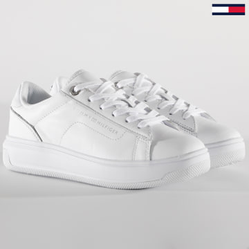 Tommy Hilfiger - Baskets Femme Leather TH Cupsole 5009 White