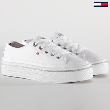 Tommy Hilfiger - Baskets Femme Glitter Detail Platform 5013 White