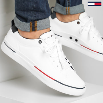 Tommy Hilfiger - Baskets Corporate Leather 2285 White