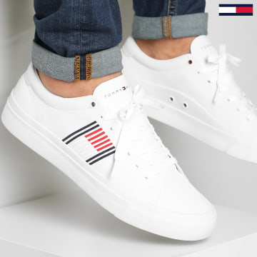 Tommy Hilfiger - Baskets Corporate Leather 2853 White