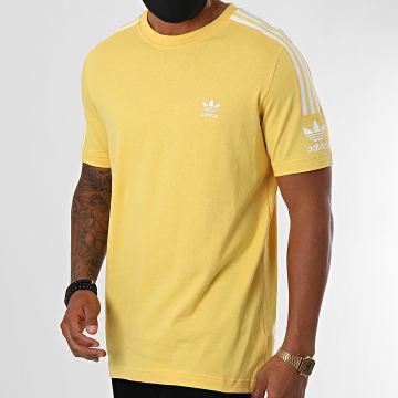 Adidas Originals - Tee Shirt A Bandes Tech FM3812 Jaune