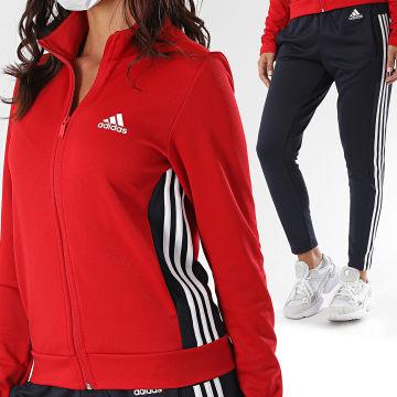 Adidas Performance - Ensemble De Survêtement Femme A Bandes Teamsports GK2115 Rouge Noir