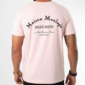 Heuss L'Enfoiré - Tee Shirt Maison Moulaga Rose Noir