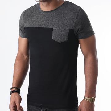 LBO - Tee Shirt Poche 1233 Anthracite Noir