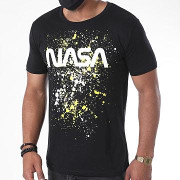 NASA - Tee Shirt Worm Splatter Noir Jaune