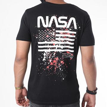NASA - Tee Shirt Worm USA Splatter Noir