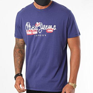 Pepe Jeans - Tee Shirt Salomon PM507272 Bleu Marine