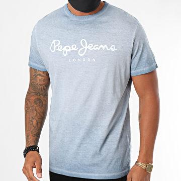 Pepe Jeans - Tee Shirt West Sir PM504032 Bleu Clair