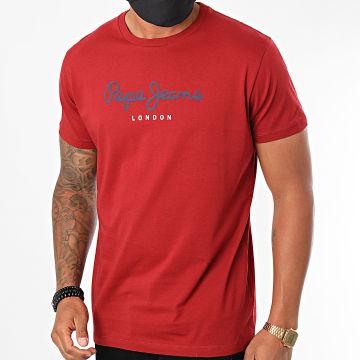 Pepe Jeans - Tee Shirt Eggo PM500465 Bordeaux