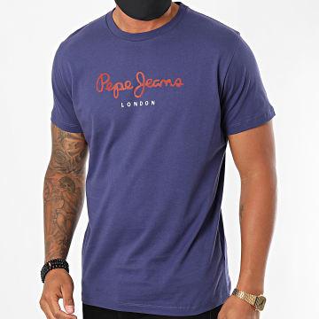 Pepe Jeans - Tee Shirt Eggo PM500465 Bleu Marine