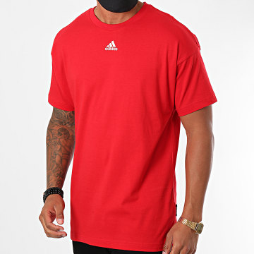 Adidas Performance - Tee Shirt MH 3 Stripes GC9058 Rouge