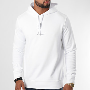 Armani Exchange - Sweat Capuche 8NZM94-ZJKRZ Blanc