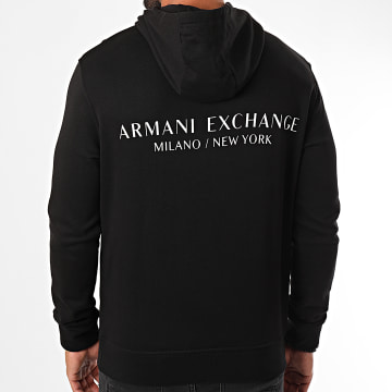 Armani Exchange - Sweat Capuche 8NZM94-ZJKRZ Noir