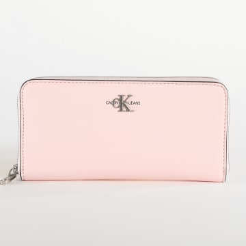 Calvin Klein - Portefeuille Femme Zip Around 6871 Rose