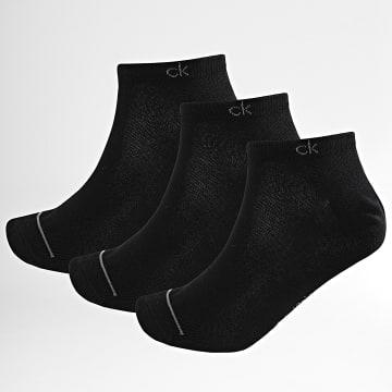 Calvin Klein - Lot De 3 Paires De Chaussettes Invisibles 1877 Noir
