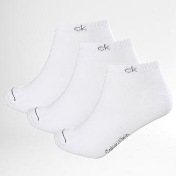 Calvin Klein - Lot De 3 Paires De Chaussettes Invisibles 1877 Blanc