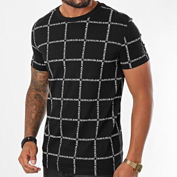 Calvin Klein - Tee Shirt A Carreaux Grid AOP Fashion 5717 Noir