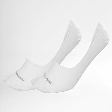 Calvin Klein - Lot De 2 Paires De Chaussettes Basses 1807 Blanc