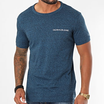 Calvin Klein - Tee Shirt Institutional Chest 6042 Bleu Marine Chiné