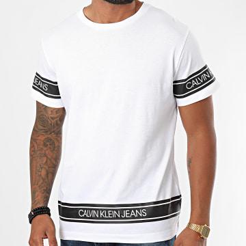 Calvin Klein - Tee Shirt Fashion Logo Tape 6048 Blanc