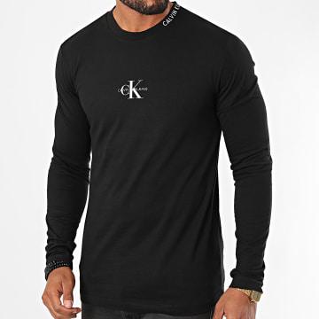 Calvin Klein - Tee Shirt Manches Longues Center Monogram 6812 Noir