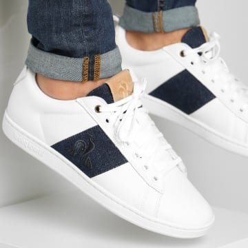 Le Coq Sportif - Baskets CourtClassic Strap Denim 2021189 Optical White Blue Denim