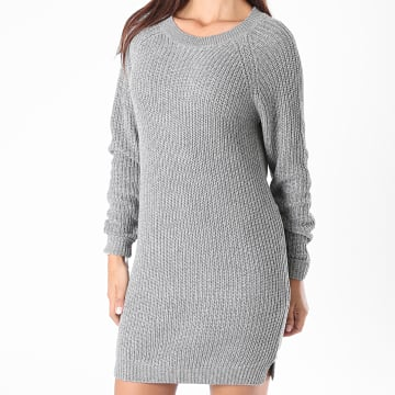 Noisy May - Robe Pull Femme Siesta Gris Chiné