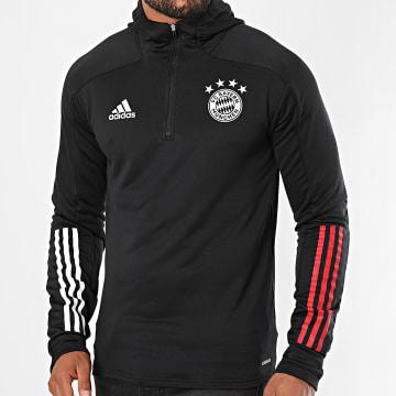 Adidas Performance - Sweat Col Zippé Capuche A Bandes FC Bayern GD9686 Noir