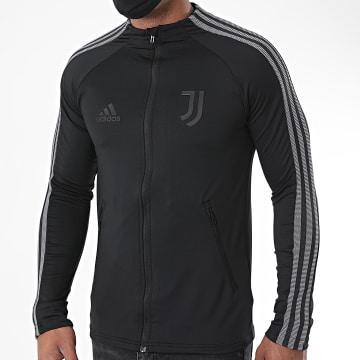Adidas Performance - Veste De Sport A Bandes Juve Anthem FI4884 Noir