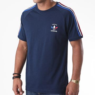 Adidas Originals - Tee Shirt A Bandes 3 Stripes GP1922 Bleu Marine