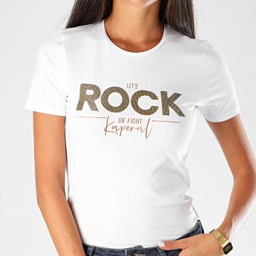 Kaporal - Tee Shirt Femme Arpik Blanc Doré