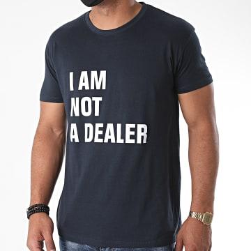La Franc-Manesserie - Tee Shirt I Am Not A Dealer Bleu Marine