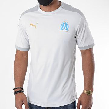 Puma - Tee Shirt De Sport OM Jersey 757686 Gris Clair