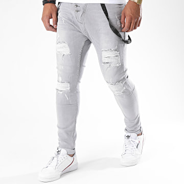 Black Needle - Jean Slim 3164 Gris
