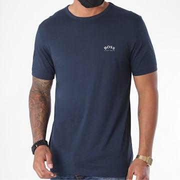 BOSS - Tee Shirt Curved 50412363 Bleu Marine